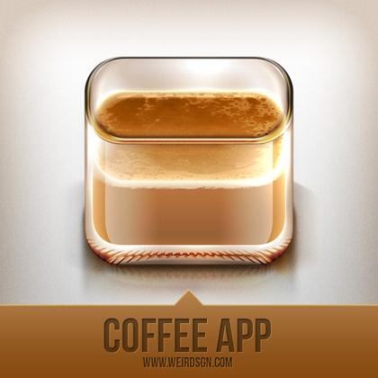coffee app icon design by aditya nugraha putra