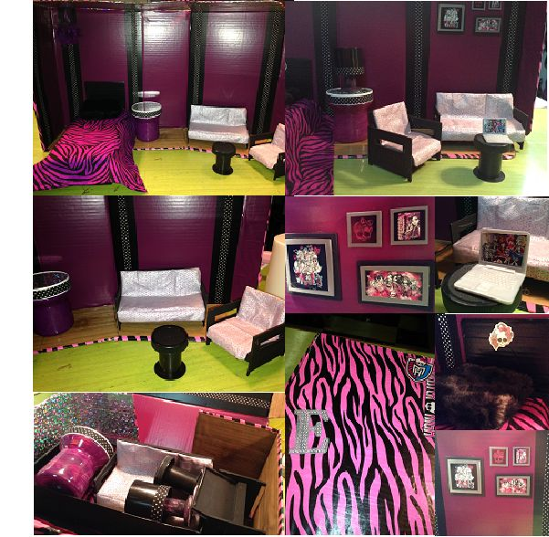 Les 21 meilleures images du tableau couture pour barbie sur pinterest v tements barbie - Accessoire monster high pour chambre ...