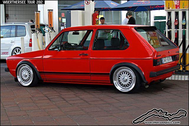 Red VW Golf Mk1 GTI by retromotoring, via Flickr