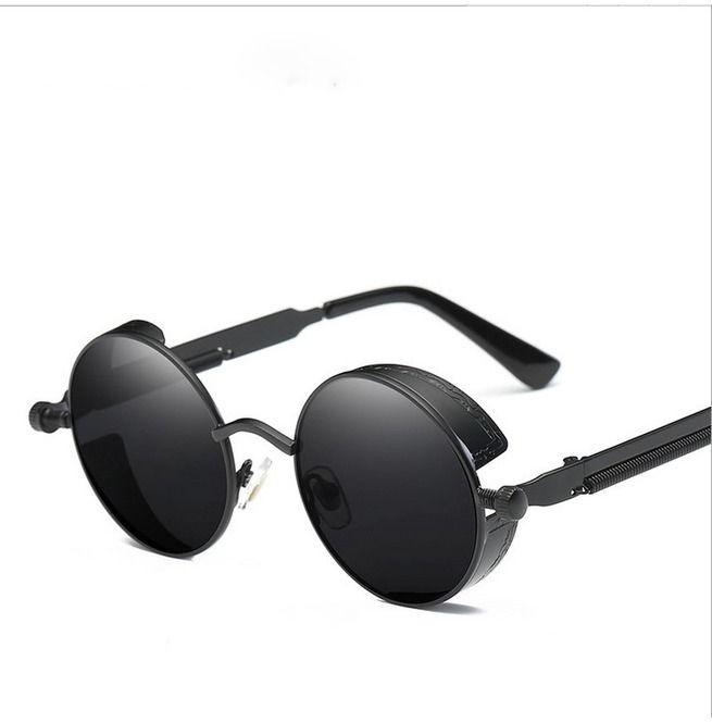 Men Women Polarized Steampunk Sunglasses Brand Design Round UV400 Eyewear UK