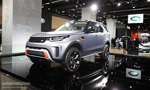 Land Rover Discovery SVX Looks Out of Place on the Flat Frankfurt Floor :  And just by looking at it you can kind of see where they're coming from. If you loved the Discovery 4 you simply can't have the same feelings for the new one. They are completely different aesthetic propositions and that rounded rear end is even weirder when you see it in person.  That may be so but it's not the looks that decide how well a vehicle does when the asphalt runs out and on that aspect the new Disco hasn't…