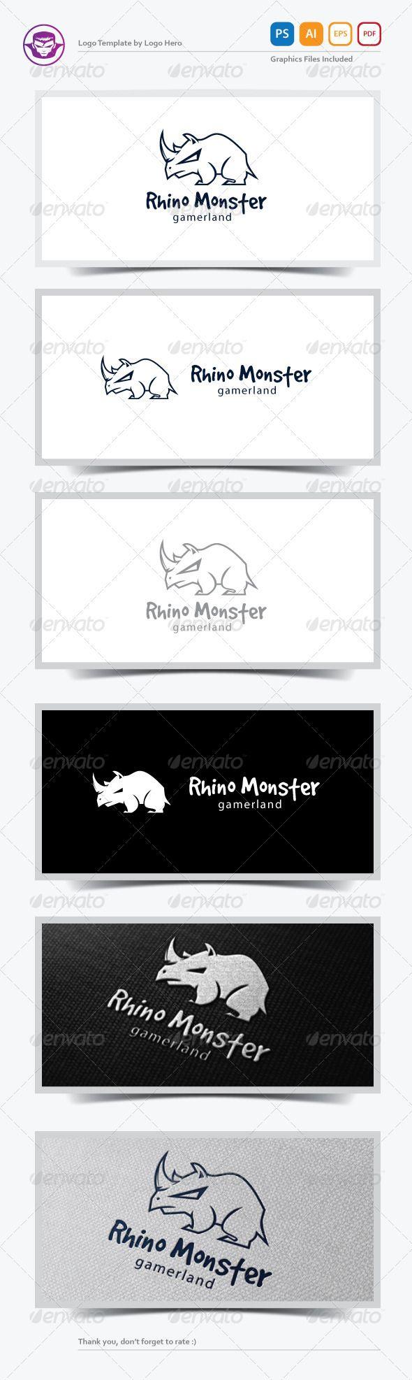 Rhino Monster Logo Template