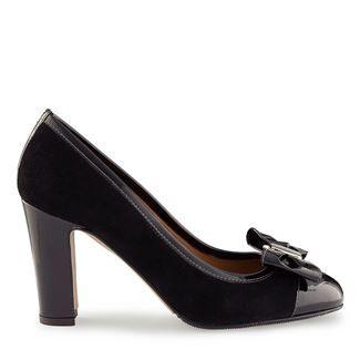 Pantofi dama negri 4126 piele intoarsa