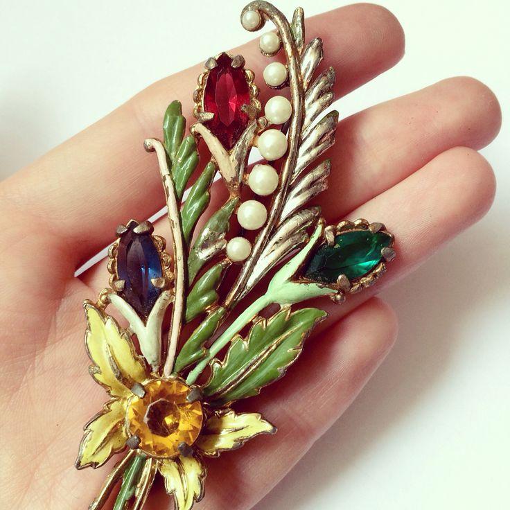1940. Брошь . Antique brooch