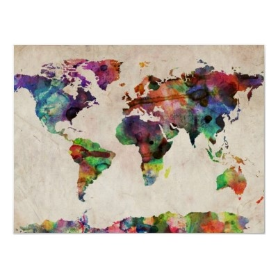 watercolor map! love it.