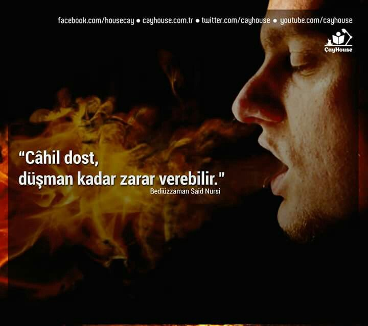 """Cahil dost..."