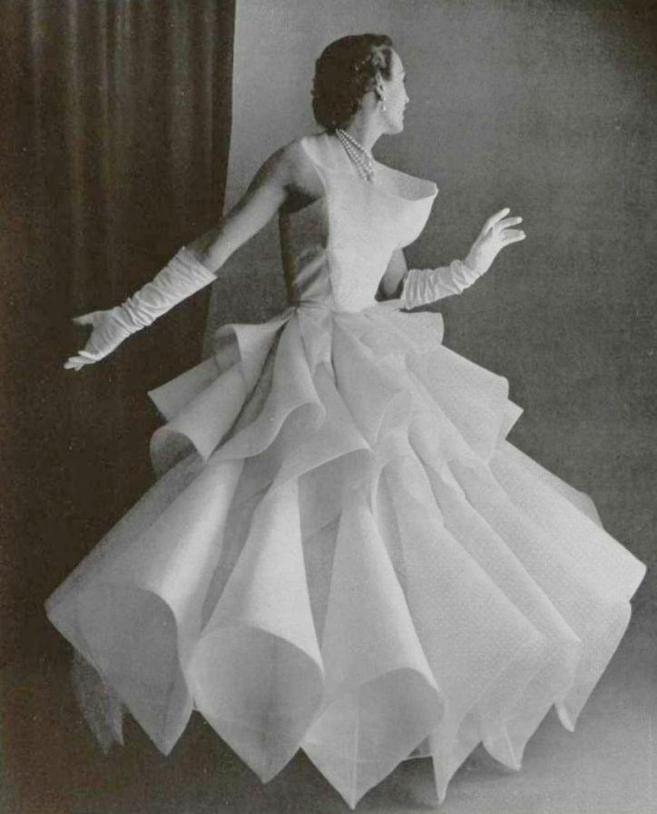 1955 Ball Gown by Castillo Late Vintage