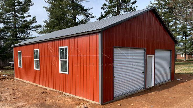 30'x40'x10' All Vertical Modular Garage in 2020 Metal