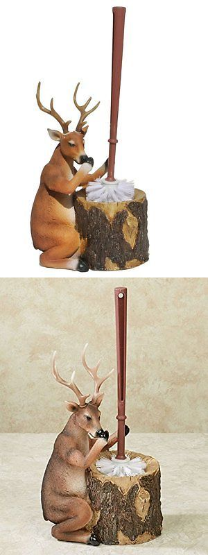 Toilet Brushes and Sets 66723: Stinky Deer Resin Toilet Brush And Holder - Rustic Lodge Decor -> BUY IT NOW ONLY: $44.79 on eBay!