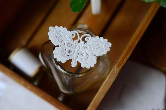 5 PCS Gorgeous Altered Art Sew On Off White by LaceDecoration, $4.99