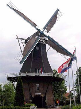 Flour mill De Korenbloem, Vriescheloo, the Netherlands