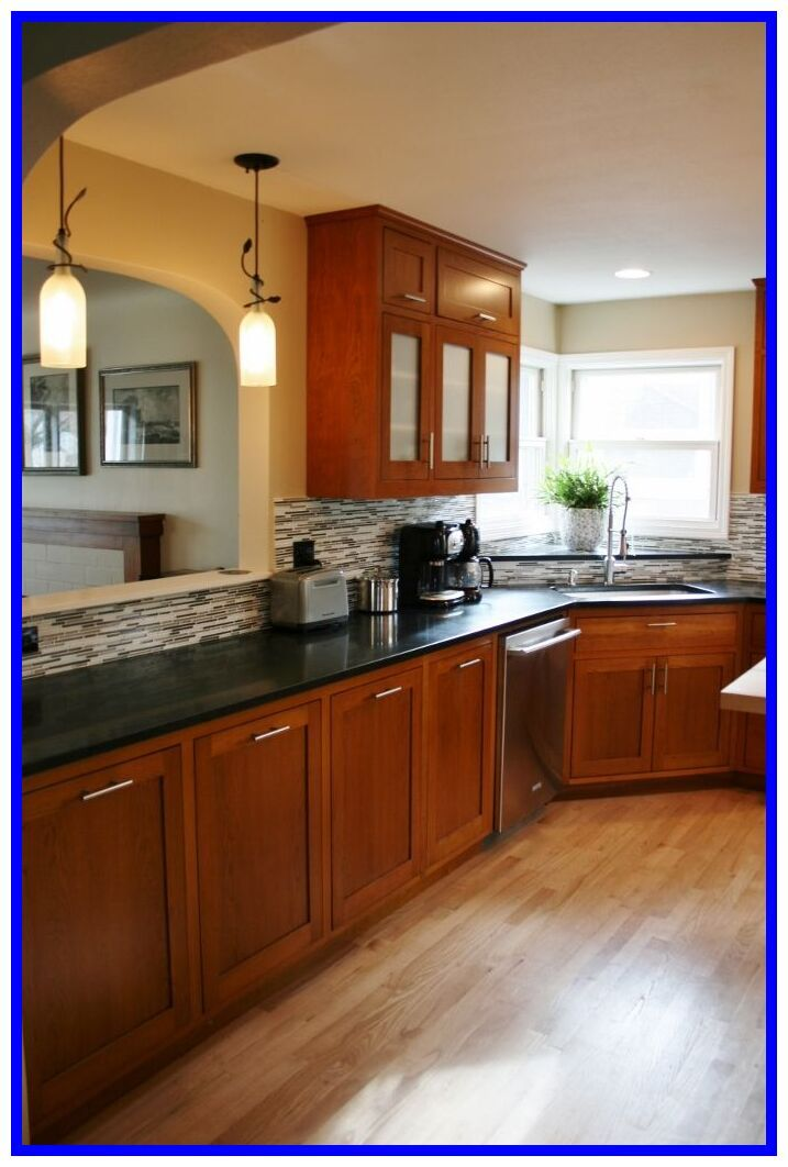57 Reference Of Cherry Kitchen Cabinets With Light Wood Floors Best Kitchen Countertops Granite Countertops Kitchen Cherry Cabinets Kitchen