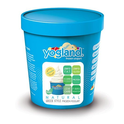 Yogland Natural Greek Frozen Dessert from Muscle Food - 100% Fat Free, Gluten Free, Sugar Free and packed with Protein – dessert just got tasty AND healthy!