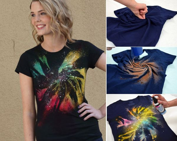 DIY Galaxy Twist Bleach / Tie Dye T-Shirt - Find Fun Art Projects to Do at Home and Arts and Crafts Ideas