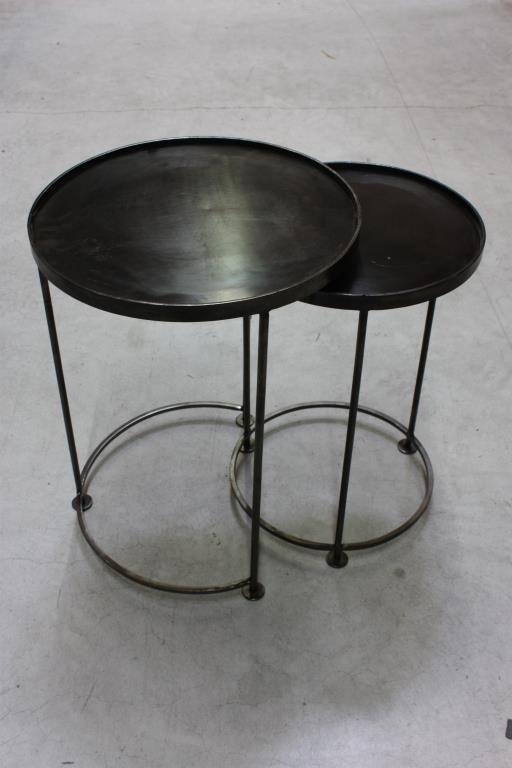 Runt satsbord i järn - svart oxiderat nickel på Tradera.com -