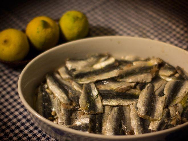 Tortino agrodolce di sardine