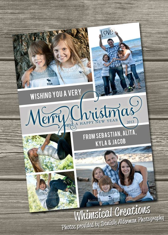 Christmas Photo Card - Holiday Photo Cards (Digital File) I Design, You Print on Etsy, $14.99