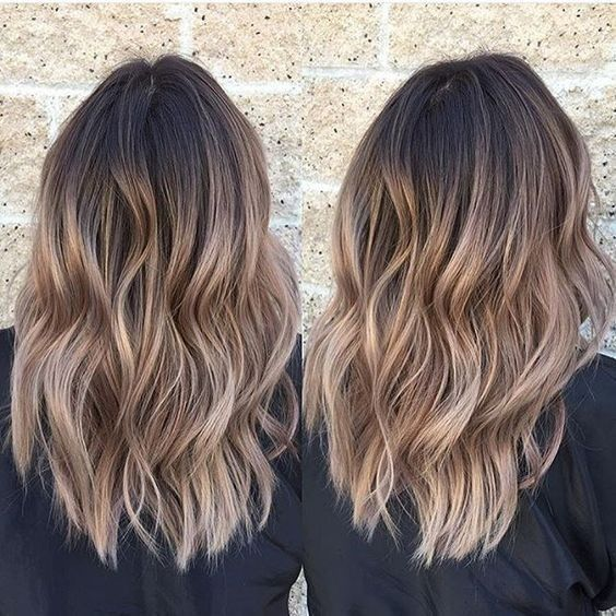 Layered, Wavy Haircuts for Medium Thick Hair - Ombre Hairstyles 2017