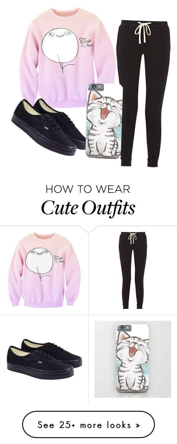 """Outfit 11"" by kwangminaee on Polyvore featuring James Perse and Vans"