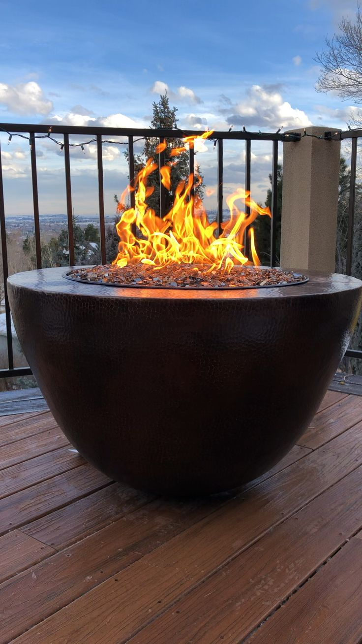 Boulder copper fire bowl video in 2020 fire bowls
