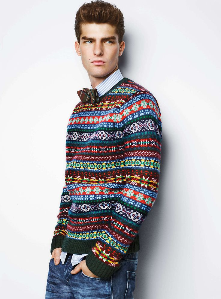 Mens Fair Isle Sweater Knitting Patterns : Cardigans and Sweaters Mens Fashion Pinterest Awesome, Bow ties an...