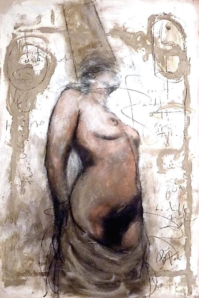 Beppo Zuccheri - Queen of Thebes - Cm 98x66 / Mixed media on board - 2012 www.beppozuccheri.com