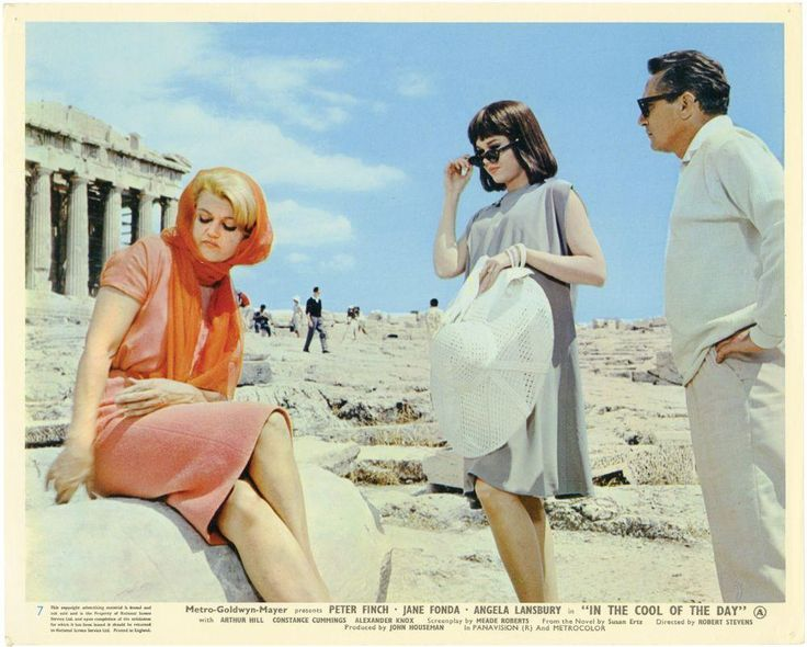 Sixties | Angela Lansbury, Jane Fonda and Peter Finch in In the Cool of the Day, 1963