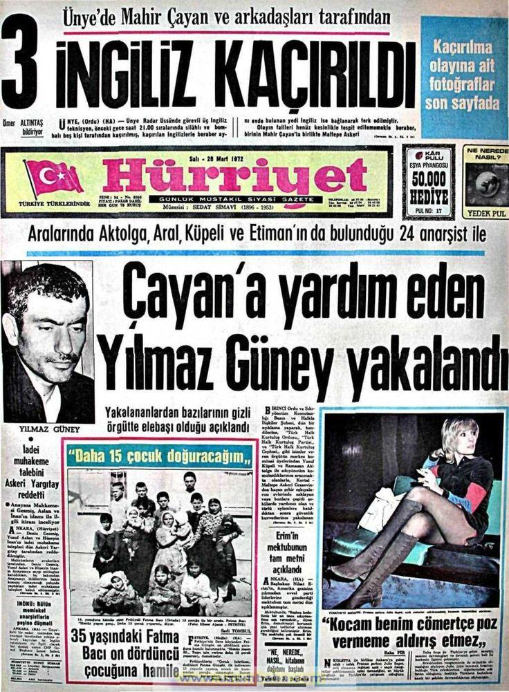 Hürriyet gazetesi 28 mart 1972