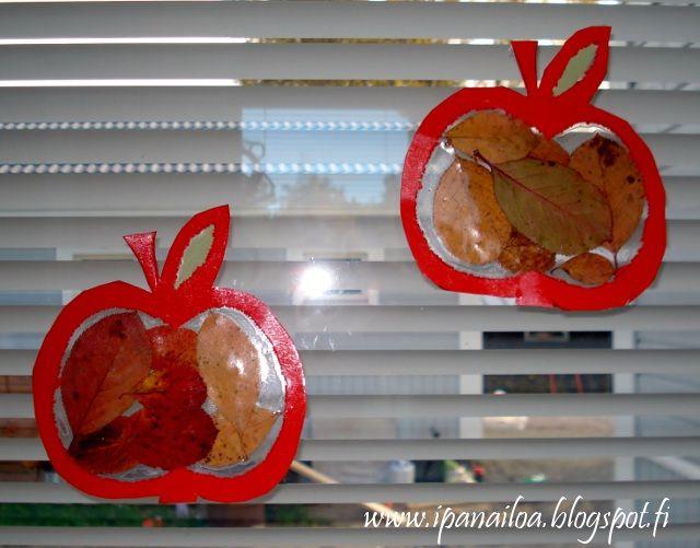 askartelua: syksy, omena  http://ipanaaskartelua.blogspot.fi/2011/10/syksyinen-omena.html