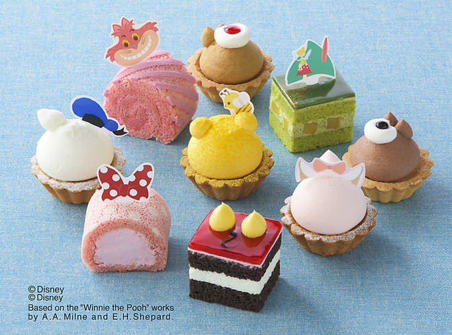 ディズニーのキャラクターをモチーフにしたプチケーキの詰め合わせ