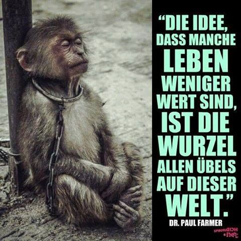 Die Idee, das manche Leben weniger wert sind, ist die Wurzel allen Übels auf dieser Welt. -Dr. Paul Farmer
