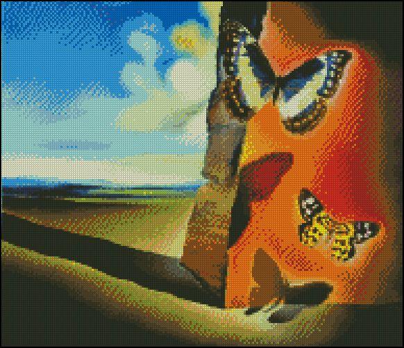 Esquema de Cuadros de Dalí en Punto de Cruz (6)