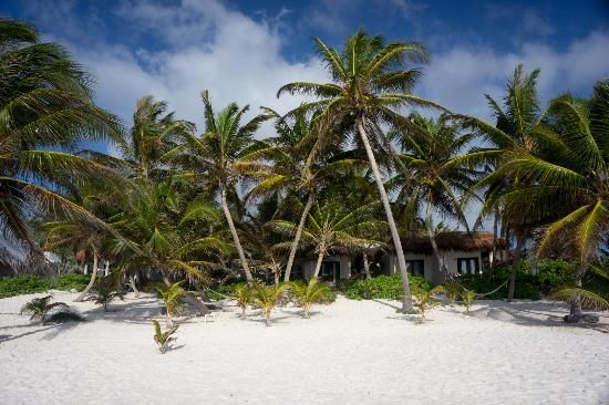 Cabanas Tulum: Ocean front cabans are right on the beach