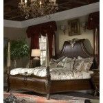 $3527.00 AICO Furniture - Imperial Court Queen Size Poster Bed in Radiant Chestnut - 79010-20-30-40