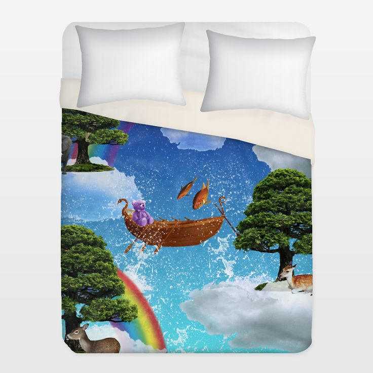 Shop for unique nursery art like the FantasyLand Duvet Cover by haroulita on BoomBoomPrints today!  Customize colors, style and design to make the artwork in your baby's room their own!