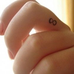Infinity finger Tattoo.... Might just get one !!