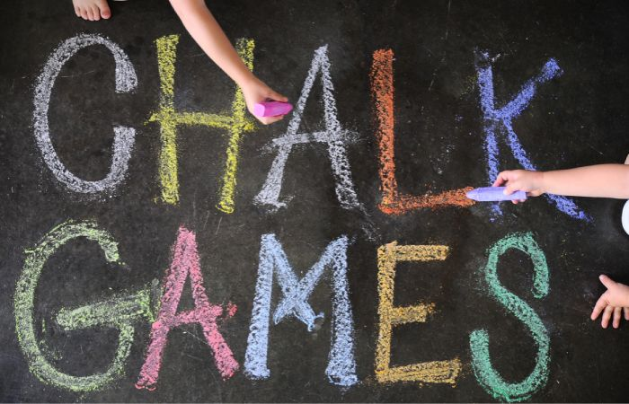 Fun ideas for chalk games with your little ones