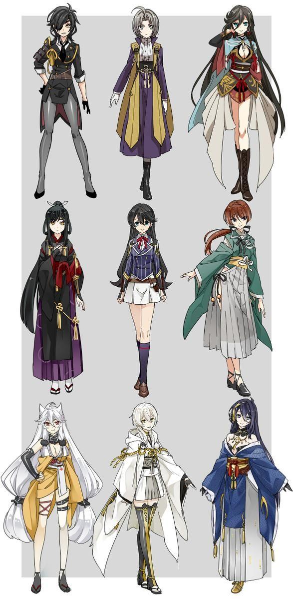 CFxORQlUsAAzOiK.jpg (587×1199); Touken Ranbu gender bend!!