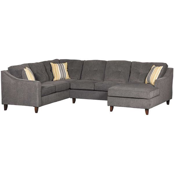 Sydney Gray 3 Piece Sectional Furniture Sofa Furniture 3 Piece Sectional