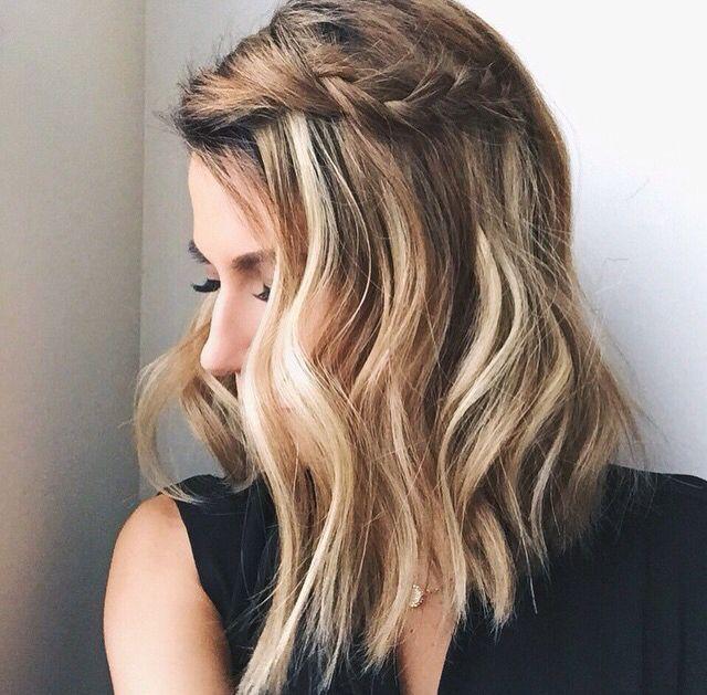 medium length braided hair ~ we ❤ this! moncheribridals.com #mediiumlengthweddinghair
