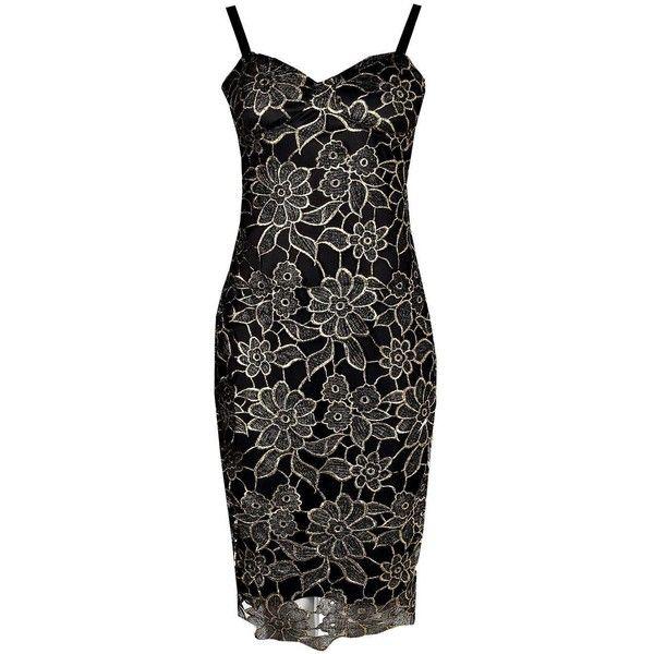 Boohoo Petite Ruby Metallic Corded Lace Midi Dress | Boohoo ($12) ❤ liked on Polyvore featuring dresses, petite lace dress, calf length dresses, lace dress, petite midi dress and midi dresses
