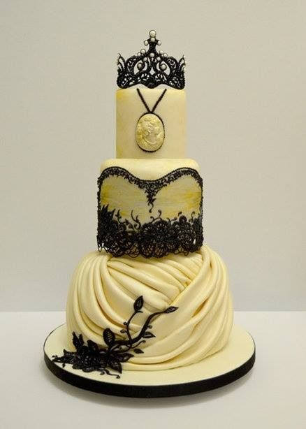 Best 25+ Victorian wedding cakes ideas on Pinterest | Gorgeous cakes, Gothic wedding cake and ...