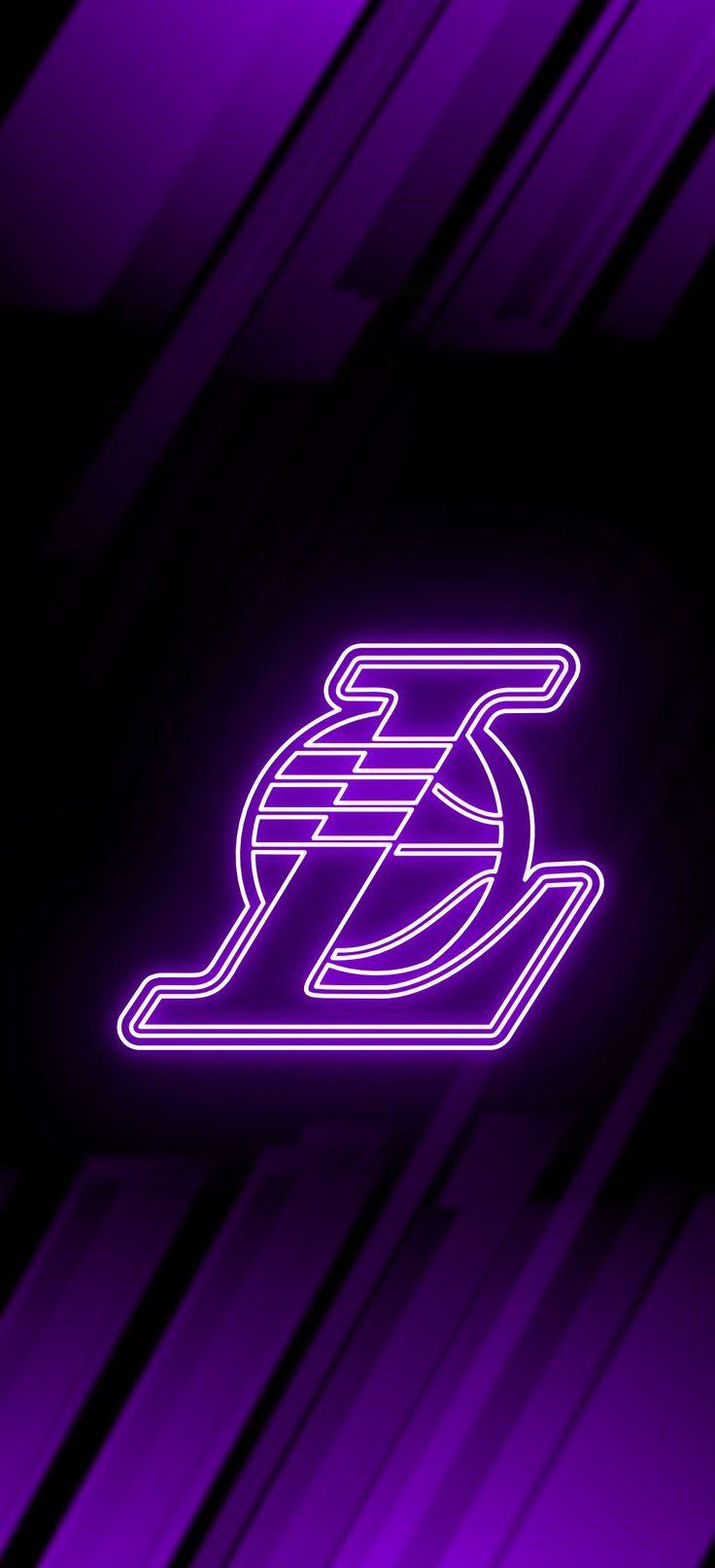 Los Angeles Lakers Neon Wallpaper Nba Basketball Art Lakers Wallpaper Lakers Basketball