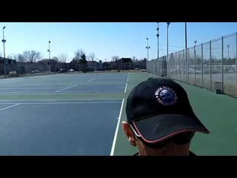 ▶ Slice backhand tennis practice (Silent Partner Ball Machine) - YouTube