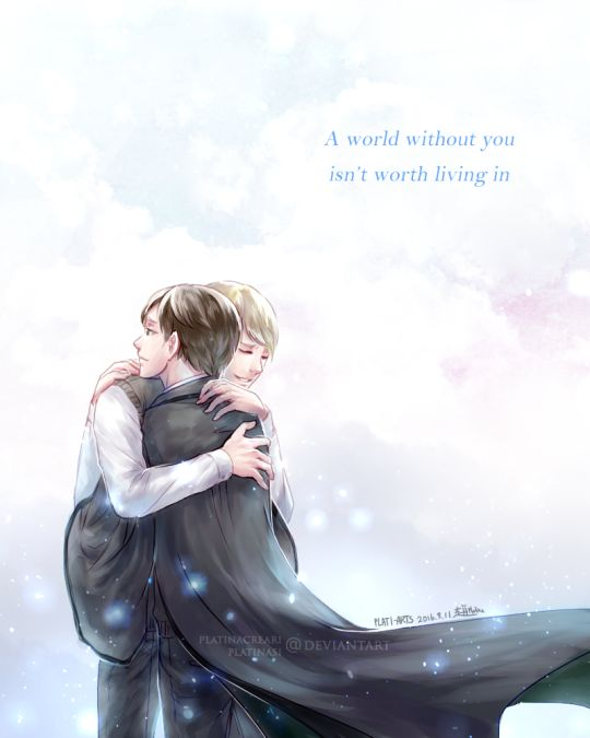Scorpius and Albus - The Cursed Child - I think this world is precious because it has you in it by Raven wings