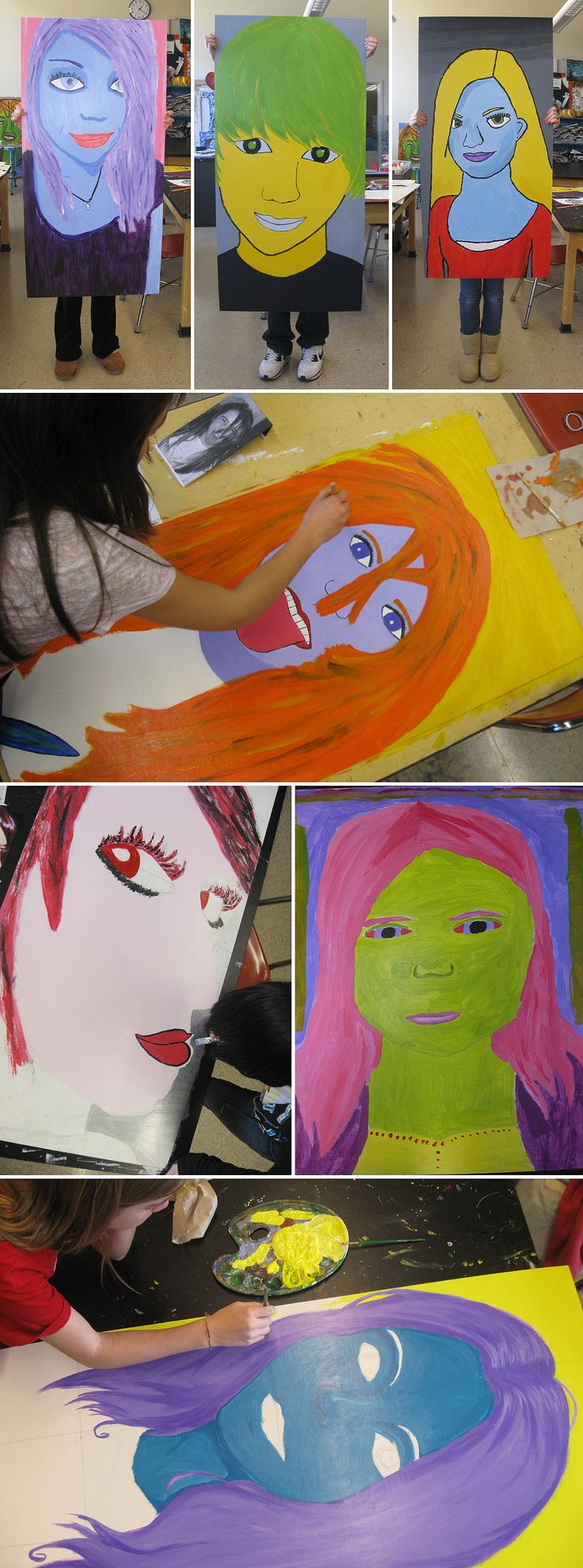 Amazing Junior High art blog. Can't access post URLs but you can scroll through to see artwork. self-portraits