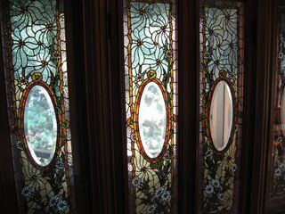 Tiffany windows in the Winchester Mystery House