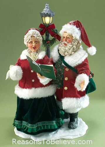 Image detail for -Mr Mrs Claus Carrolers 25th Anniv. | Santa Claus Figurines and Hand ...