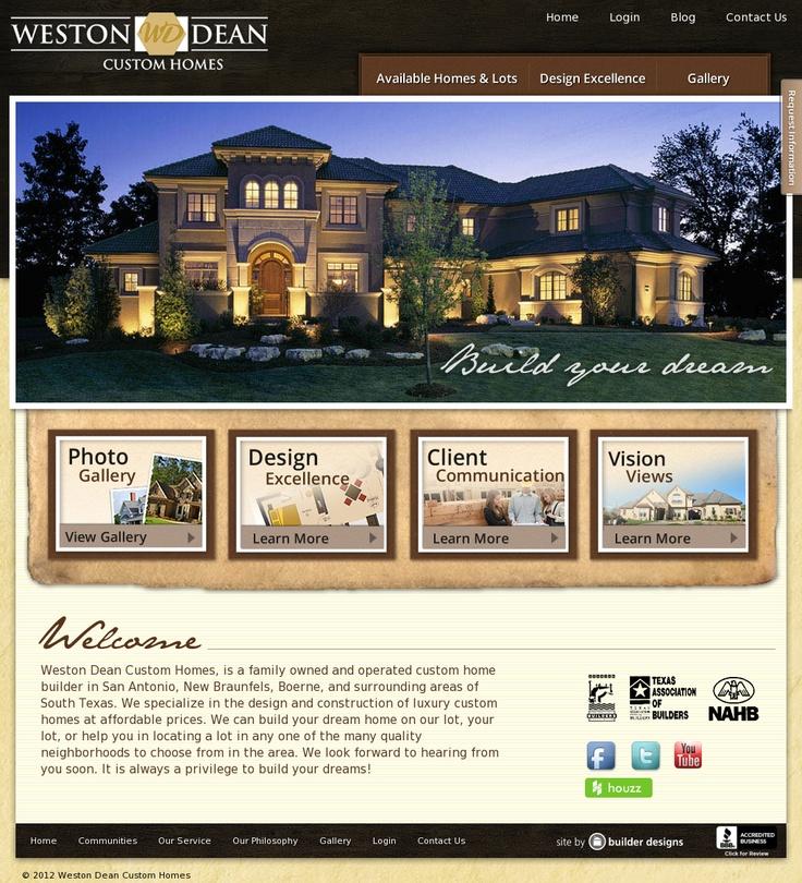 Weston Dean Homes | Website Design