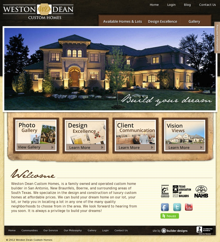 Weston Dean Homes | Website Design